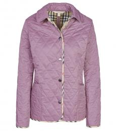 Burberry Lilac Classic Quilted Jacket