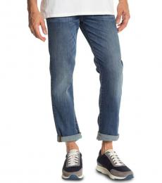 7 For All Mankind Blue Luxe Slimmy Slim Jeans
