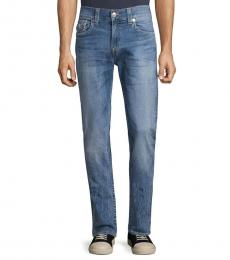 True Religion Blue Rocco Straight-Leg Jeans