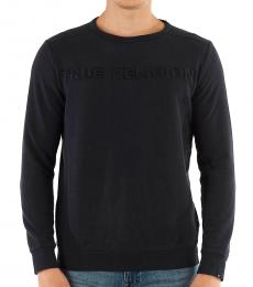 True Religion Black Crewneck Logo Sweatshirt