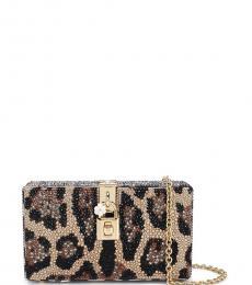Dolce & Gabbana Leopard Print Box Clutch