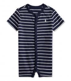 Ralph Lauren Baby Boys French Navy Striped Shortall