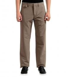 Brown Fleece Regular Fit Pants