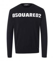 Dsquared2 Black Logo Graphic Sweatshirt