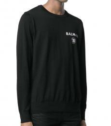 Balmain Black Logo Print Sweatshirt