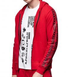 Ruby Red Logo Zip Hoodie