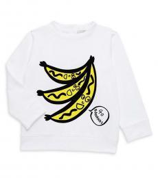 Stella McCartney Baby Girls White Graphic Sweatshirt
