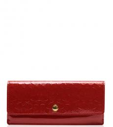 Coach Red Embossed Wallet