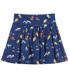 Girls Dark Blue Claudette Skirt