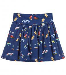 Stella McCartney Girls Dark Blue Claudette Skirt