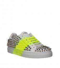Philipp Plein White Leather Sneakers