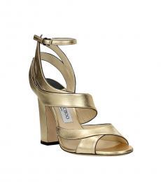 Jimmy Choo Gold Falcon Heels