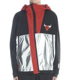 Marcelo Burlon Black Chicago Bulls Jacket