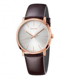 Calvin Klein Brown Posh Quartz Watch