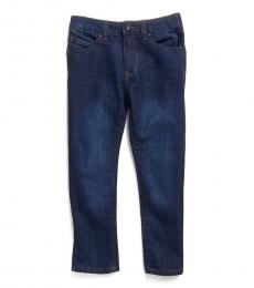 DKNY Little Boys Dark Indigo Mott Straight Leg Jeans