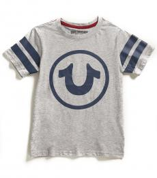 True Religion Little Boys Grey Varsity Circle T-Shirt