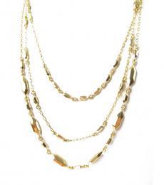 Gold Three Row Necklace