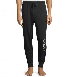 Calvin Klein Black Cotton-Blend Jogger Pants