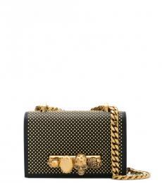 Alexander McQueen Black Embellished Mini Crossbody