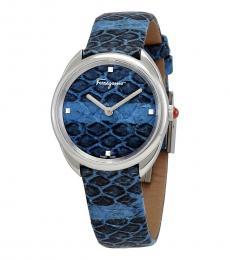 Blue Elaphe Dial Watch