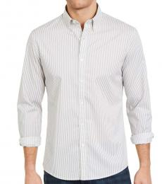 Alloy Gray Slim-Fit Stretch Stripe Shirt