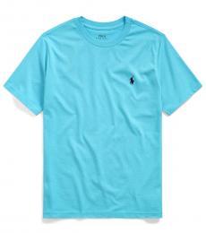 Ralph Lauren Boys Liquid Blue Crewneck T-Shirt