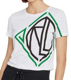 White Graphic Logo Tee