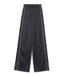 Balenciaga Navy Blue Contrast Piping Pants