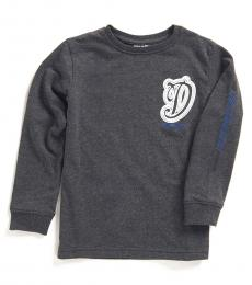 Diesel Little Boys Dark Heather Cursive Logo T-Shirt