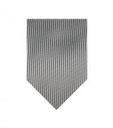 Calvin Klein Grey Woven Steel Tie