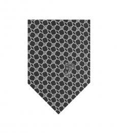 Versace Black Geometric Tie