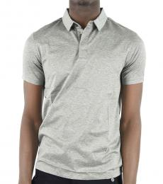 Emporio Armani Grey Regular Fit Polo