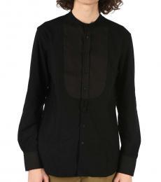 Neil Barrett Black Mandarin Slim Tuxedo Shirt