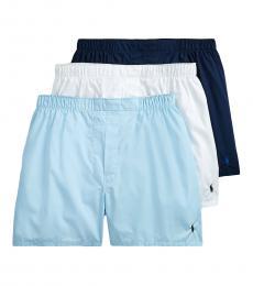 Ralph Lauren Blue Classic Fit Boxer 3-Pack