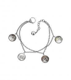 Emporio Armani Silver Multi Charm Logo Bracelet