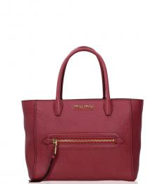Miu Miu Fuchsia Front Zip Medium Satchel