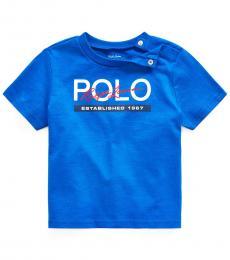 Ralph Lauren Baby Boys Pacific Royal Jersey Graphic T-Shirt