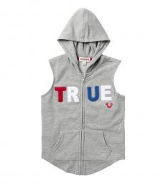 True Religion Little Boys Grey True Zip Hoodie Vest