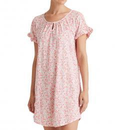 Pink Cotton-Blend Sleep Shirt