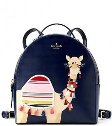 Navy Spice Things Up Camel Small Backpack