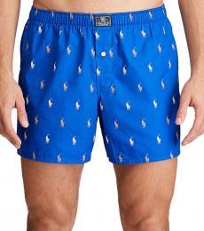Ralph Lauren Blue Stingray Logo Cotton Boxers