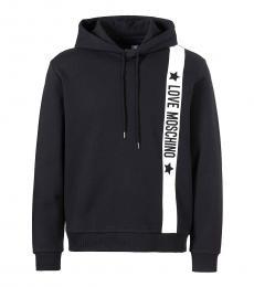 Love Moschino Black Side Logo Hoodie