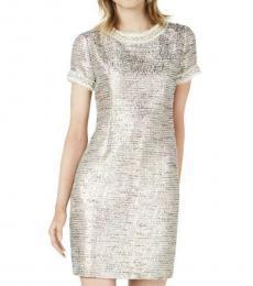 Betsey Johnson Waterfall Embellished Shift Dress