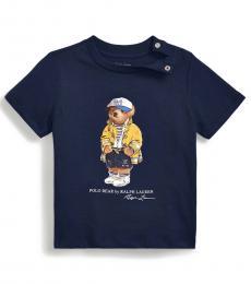 Ralph Lauren Baby Boys Newport Navy CP-93 Bear T-Shirt