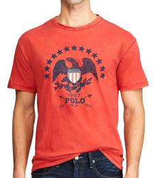 Ralph Lauren Red Classic Fit Graphic T-Shirt