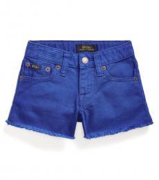 Ralph Lauren Little Girls Cruise Royal Denim Shorts