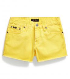 Ralph Lauren Girls Bevy Wash Lemon Rind Denim Shorts