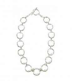 Ralph Lauren Silver Textured Link Chain Necklace