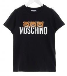 Moschino Little Boys Black Teddy T-Shirt