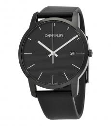 Calvin Klein Black City Black Dial Watch